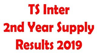 TS Inter 2nd Year General Supplementary Results 2019