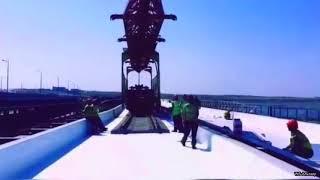 Крымский мост  Уладка рельсошпаловой решетки