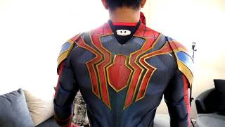 SPIDERMAN IRON SPIDER MOVIE REPLICA TEST FIT SUIT FROM AVENGERS INFINITY WAR  BEST IRON SPIDER SUIT