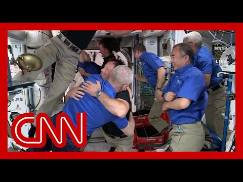 Astronauts welcome new crew aboard the ISS