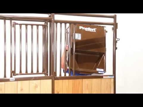 How To Install A Stall Feeder, Feed Bucket, & Bracket In A Premier Stall Front