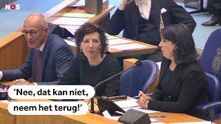 Kamervoorzitter Arib spreekt Kamerlid van Dam aan op vrouwonvriendelijk 'grapje'