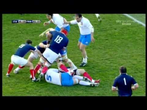 Rugby ITALIA - FRANCIA (22-21) 6 Nazioni 2011 2° Tempo