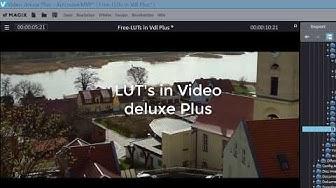 Magix Video deluxe  Film- und Kinolook mit LUT's