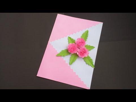 DIY:Handmade Birthday Card!! How to Make Beautiful Paper Card for birthday/Greetings/Valentine day!!