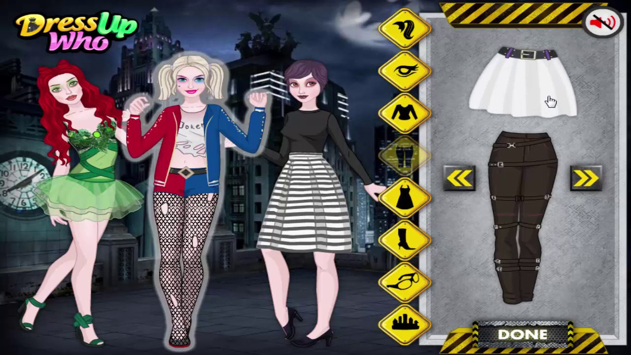 Halloween Dress up games Harley Quinn and Friends and Victoria's ...