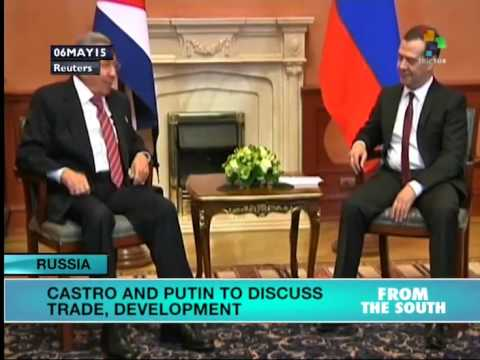 Raul Castro in Moscow for Talks with Russian President