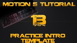 Motion 5 Free Practice Template | 3D Text