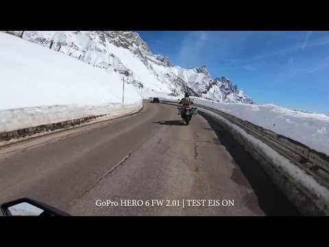2018 04 02 | Motorbike Passo Rolle | Snow | GoPro hero 6 | EIS ON | FW 2.01