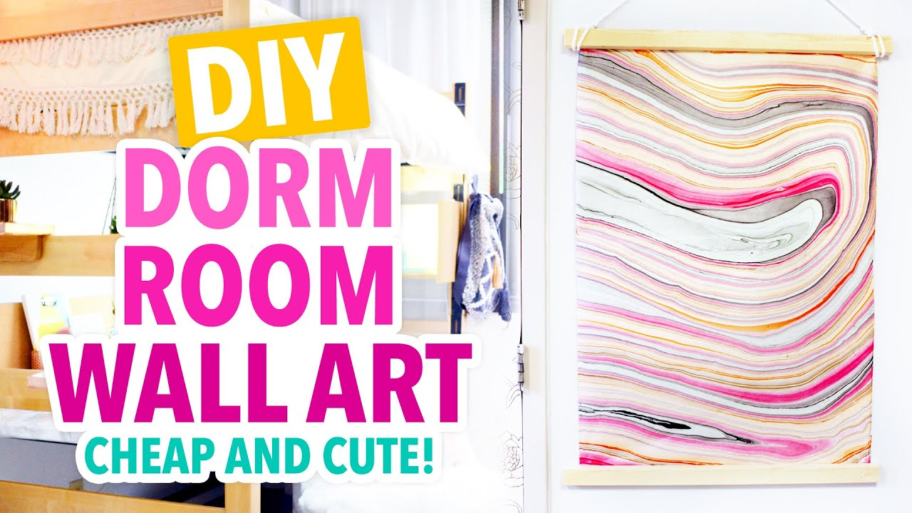 DIY Inexpensive Dorm Room Wall Art   #DormRoomTakeover   HGTV Handmade    YouTube Part 46