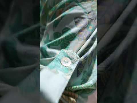 巴黎SARAH JOHN 薄荷綠花卉長袖襯衫