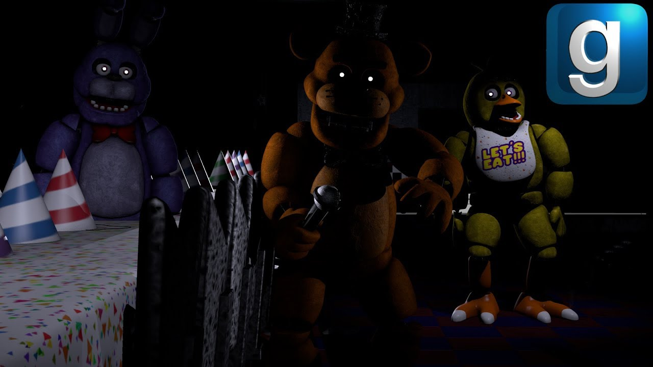 Gmod FNAF | New Five Nights at Freddy's 1 Map With Events! (Kinda)