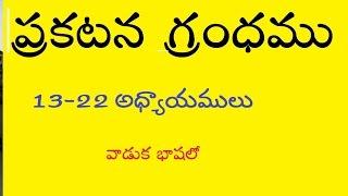 Revelation   (13-22) Audio Telugu Bible - వాడుక భాష లో (13-22 అధ్యాయములు )