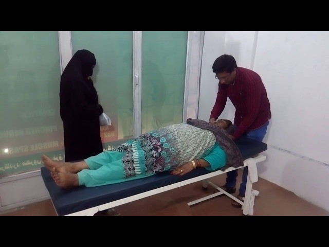 Chiropractor Aamir Shahzad adjustment sciatica, leg pain hip pain foot pain