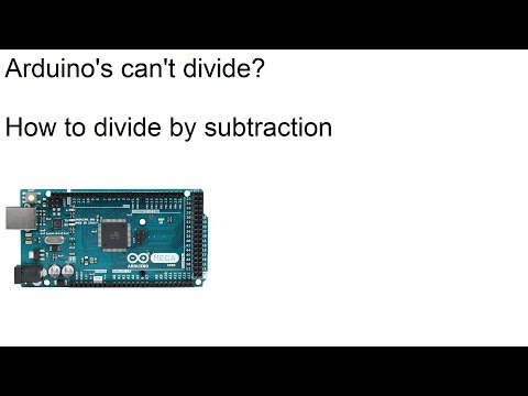 Arduinos can't divide numbers? How computers divide by subtracting