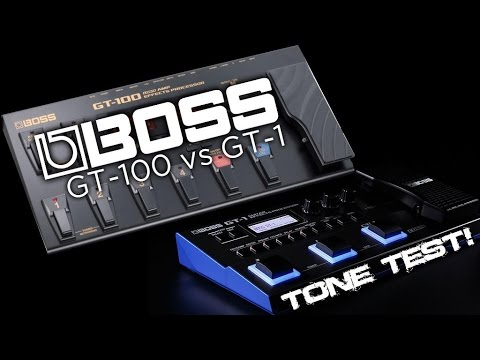 Boss GT-1 vs GT-100: TONE TEST BATTLE!