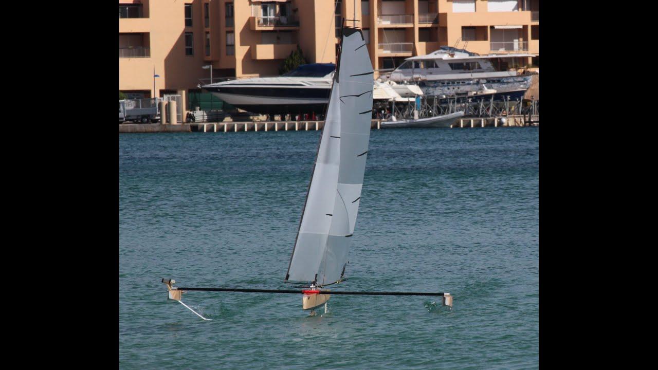 RC Hydrofoil Sailing Part4 YouTube