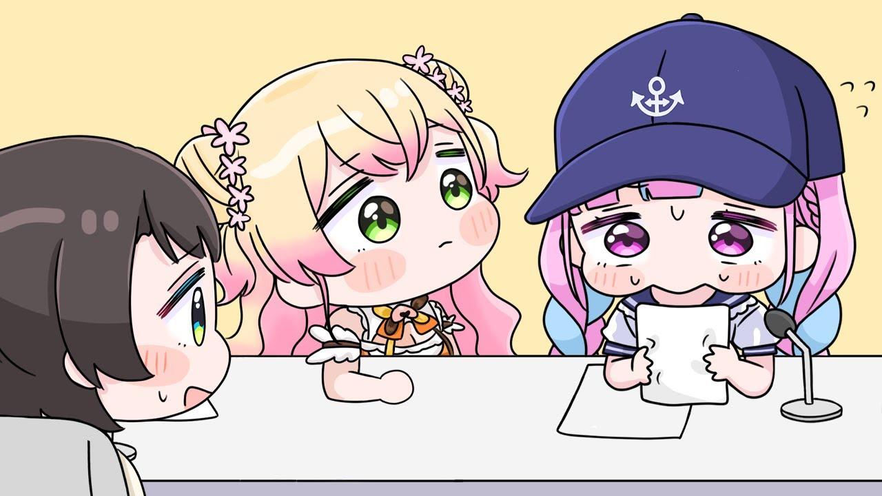 Nene puts pressure on Aqua who only looks at Subaru[Animated Hololive/Eng sub]