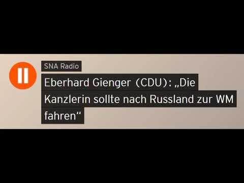 """Eberhard Gienger (CDU): """"Die Kanzlerin sollte nach Russland zur WM fahren"""" (Sputniknews)"""