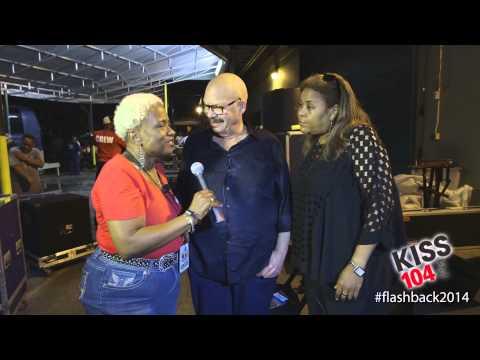 Tom Joyner And Sybil Wilkes Flashback 2014 Backstage