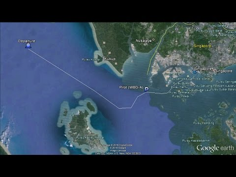 Time-lapse: transit W-Singapore Strait and arrival at Singapore [4K / UHD, 60fps]