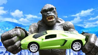 Racing cars, animal cars, trucks and King Kong A442S - Toys for kids