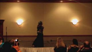 Plus Size Belly Dancers 2014 Event Yasaman M.A.D Fusion Goth Solo