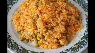 Рис с овощами/постные, вегетарианские блюда/Rice with vegetables