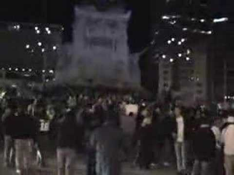 Indianapolis Colts Fans Celebrate Downtown