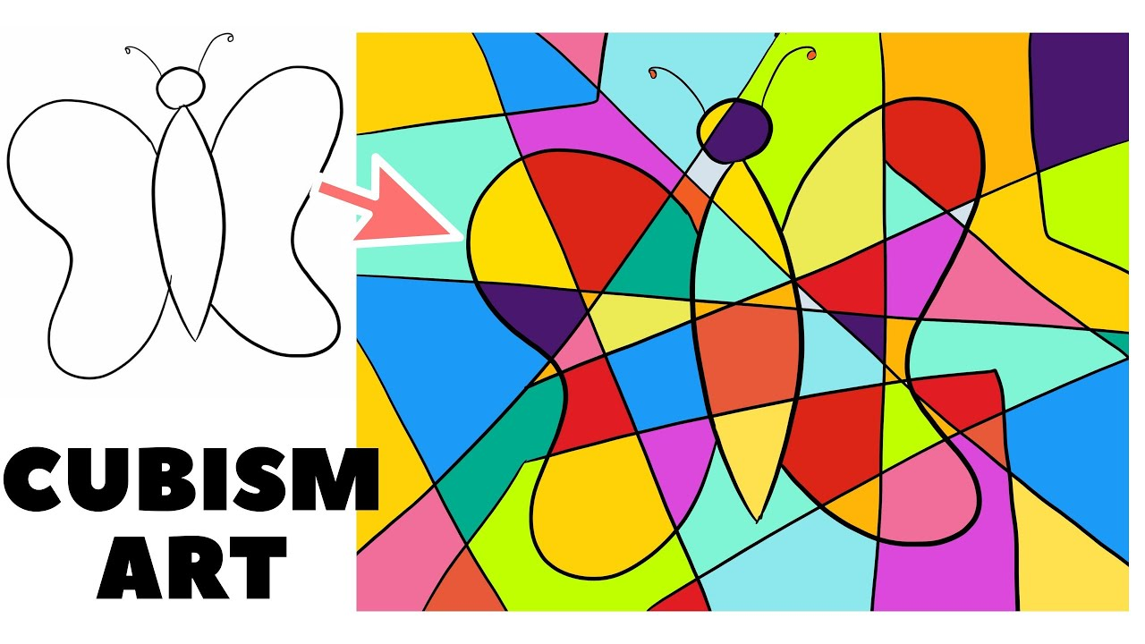 Learn Cubism Art Easy Step By Step Tutorial Cubism Art Drawing Lesson For Kids