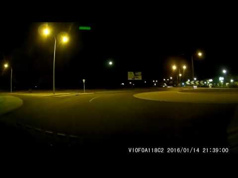 Viofo A118C2 Dashcam Sample (night-time Footage At 1080p, WDR/HDR Turned On)