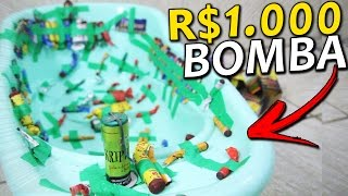 ENCHI UMA BANHEIRA COM R$ 1.000 DE BOMBA