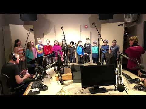 Rum River Elementary School fourth graders sing Deck the Halls at Love 105