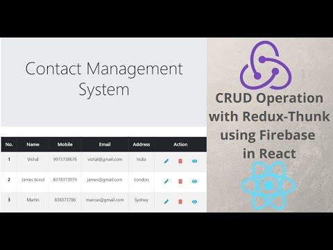 Firebase Redux-thunk Crud Operation in React