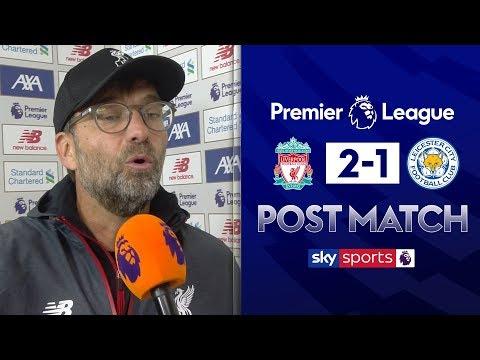 Klopp furious over Choudhury tackle on Salah!   Jurgen Klopp Post Match   Liverpool 2-1 Leicester