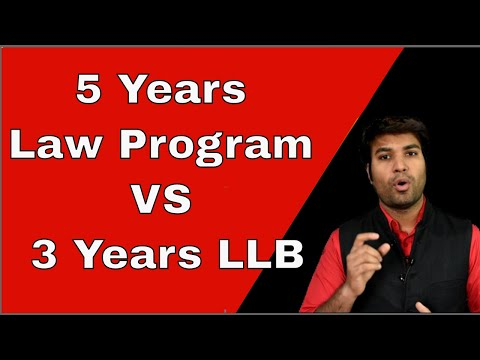 Difference between BA LLB, BBA LLB and B.Com LLB. Difference in 5 Years Law Program and 3 Years LLB