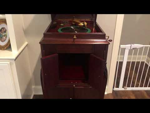 Edison Cylinder vs. 78 rpm record - Edison Opera and Victor XVI L-door - Moonlight Bay