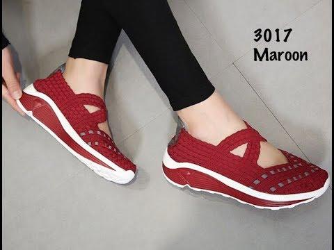 Inilah Sepatu Rajut Wanita Dewasa   Sepatu kets Terbaru 2018 - YouTube db4d1087dd