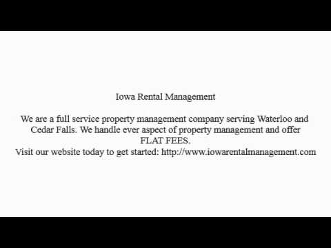 Waterloo Property Management Company-Iowa Rental Management