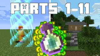 Minecraft But Leveling Up Grows The Border (Parts 1-11)