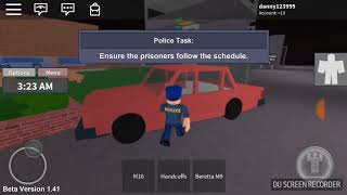 Playing roblox redwood prison