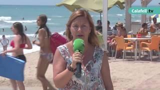 Perdua de sorra a la platja de Mas Mel