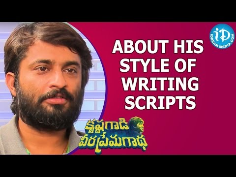 Hanu Raghavapudi About His Style Of Writing Scripts    KVPG Movie    Talking Movies With iDream