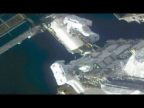 Watch: Astronauts Spacewalk Outside ISS
