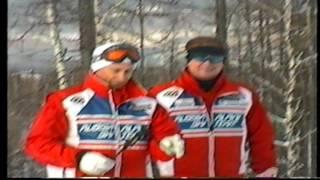 Путин на горных лыжах  в Абзаково в январе 2003 года.
