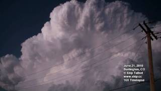 June 21, 2010 Timelapse Thunderstorm