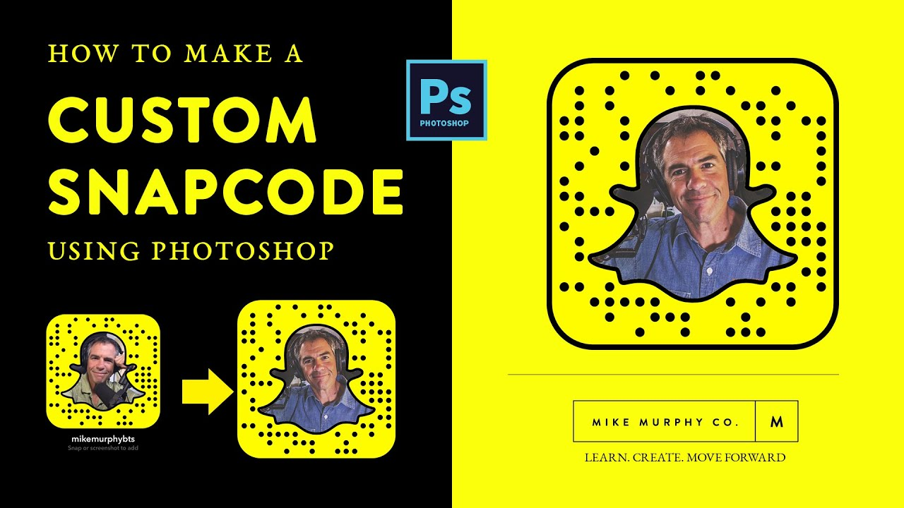How to Create Custom Snapcodes for Snapchat in Photoshop - YouTube