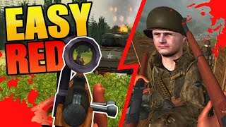 FREE WW2 D-DAY FPS | Singleplayer Low-Spec Omaha Beach | EASY RED Gameplay