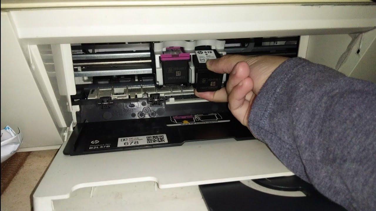 Cara Pasang Ink 678 Hp Printer Deskjet 1515 Youtube