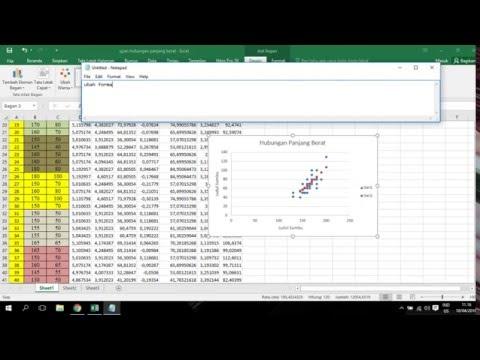 Tutorial Pengolahan Data Hubungan Panjang Berat Dengan Microsoft Excel